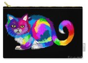 Fluffy Rainbow Calico Carry-all Pouch
