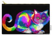 Fluffy Rainbow Cat 2 Carry-all Pouch