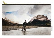 Fly Fishing At The Base Of Fitz Roy Carry-all Pouch