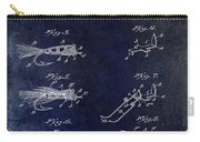 1922 Fly Fishing Lure Blue Carry-all Pouch