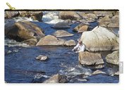 Fly Fishing On Mountain River Carry-all Pouch