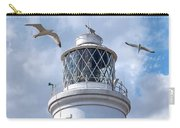 Fly Past - Seagulls Round Southwold Lighthouse - Square Carry-all Pouch