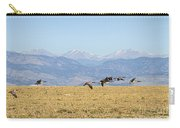Flying Canadian Geese Rocky Mountains 2 Carry-all Pouch