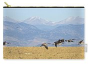 Flying Canadian Geese Rocky Mountains Panorama 2 Carry-all Pouch