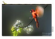Flying Cardinal Landing On Branch Carry-all Pouch