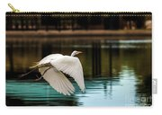 Flying Egret Carry-all Pouch by Robert Bales