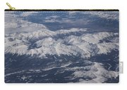 Flying Over The Snow Covered Rocky Mountains Carry-all Pouch