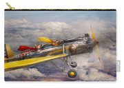 Flying Pig - Plane - The Joy Ride Carry-all Pouch by Mike Savad