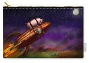Flying Pig - Rocket - To The Moon Or Bust Carry-all Pouch by Mike Savad