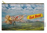 Flying Pigs - Plane - Eat Beef Carry-all Pouch