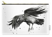 Flying Raven Watercolor Carry-all Pouch