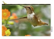 Flying Scintillant Hummingbird Carry-all Pouch