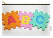 Foam Alphabet Shapes Carry-all Pouch