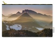 Fog Covered Mountains At Sunset Carry-all Pouch