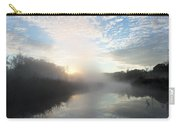 Fog Covered River Carry-all Pouch