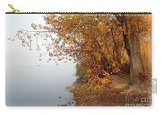 Foggy Autumn Riverbank Carry-all Pouch