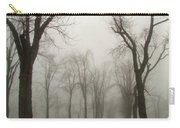 Foggy Cemetery Road Carry-all Pouch