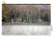 Foggy Fall On Maryland Towpath Carry-all Pouch