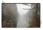 Foggy Fall River Carry-all Pouch