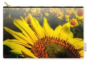 Foggy Field Of Sunflowers Carry-all Pouch