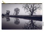 Foggy Morn Bw Carry-all Pouch by Steve Gadomski