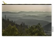 Foggy Morning Over Waterpocket Fold Carry-all Pouch