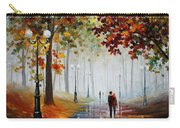 Foggy Morning - Palette Knife Contemporary Landscape Oil Painting On Canvas By Leonid Afremov - Size Carry-all Pouch