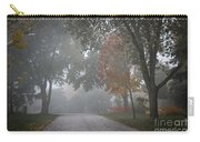 Foggy Street Carry-all Pouch by Elena Elisseeva