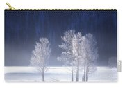 Foggy Sunrise In Yellowstone National Park Carry-all Pouch