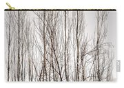 Foggy Winter Tree Fence 13271 Carry-all Pouch