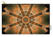 Folded 8-pointed Kaleidoscope Image Carry-all Pouch