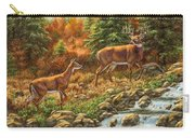 Whitetail Deer - Follow Me Carry-all Pouch by Crista Forest