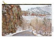 Follow The Red Rock Ridge Winter Road  Carry-all Pouch