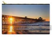 Folly Beach Pier At Sunrise Carry-all Pouch