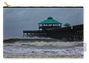 Folly Beach Pier During Sandy Carry-all Pouch