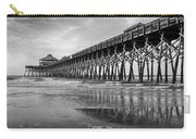 Folly Beach Pier In Black And White Carry-all Pouch