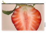 Food - Fruit - Slice Of Strawberry Carry-all Pouch by Mike Savad