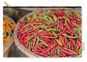 Food Market With Fresh Chili Peppers Carry-all Pouch