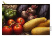 Food - Vegetables - Peppers Tomatoes Squash And Some Turnips Carry-all Pouch by Mike Savad