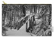 Foot Bridge In Winter Carry-all Pouch by David Rucker