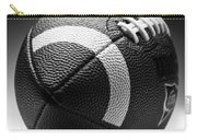 Football Black And White Carry-all Pouch