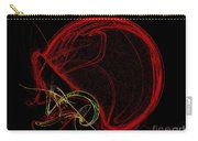 Football Helmet Red Fractal Art Carry-all Pouch by Andee Design