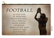Football Carry-all Pouch by Lori Deiter