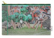 Football Playing Hard 3 Panel Composite Digital Art 01 Carry-all Pouch