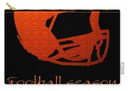 Football Season Should Be Year Round In Orange Carry-all Pouch by Andee Design