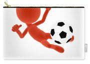 Football Soccer Shooting Jumping Pose Carry-all Pouch