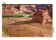 Footprints In The Sand  Canyon Dechelly Carry-all Pouch