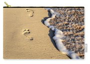 Footprints On Beach Carry-all Pouch