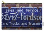 Ford And Fordson Sign Carry-all Pouch