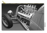 Ford Coupe Hot Rod Engine In Black And White Carry-all Pouch